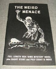 1972 First edition Thus of The Weird Menace by John H. Knox and Bob Jones