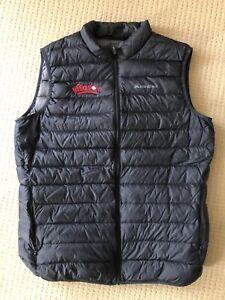 Mens MACPAC black puffer vest uber light down