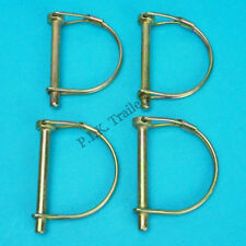 4 x 6mm Shaft Locking Retaining Pin - D Clip Lynch Linch for Trailers