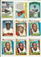 LOT OF (16) FRANK ROBINSON BASEBALL CARDS VINTAGE - MLB ORIOLES