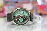 New Fossil BQ16231014 Chronograph Date Black Leather knitted Strap Men Watch