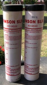 2 pack of Crimson Slide 14 oz Industrial Red Grease Cartridge