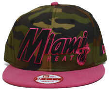 Miami Heat New Era Custom Woodland Camo And Pink Script Snapback