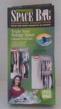Hanging Space Bag Vacuum Seal Storage Packs Hangers Included