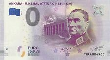 0 Euro ATATURK - ANKARA - ATATURK - TUAA - FIRST ISSUE OF Turkey - Very RARE !!!
