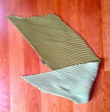 Martine Boissy French Designer plisse 2 sided Scarf Olive Avocado green pleats