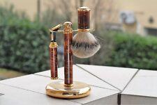 Razor Rasoio Vintage per lamette Gillette CONTOUR + Pennello in Tasso  Brush