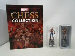 Eaglemoss Marvel Chess Collection *SPIDER-MAN #1 & IRON MAN #2 WITH MAGAZINES*