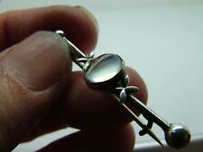 Antique Edwardian/Art Deco Silver Moonstone Bar Brooch