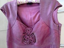 FRANK USHER SHIMMERY PINK CORSAGE DRESS SIZE 12 MOTHER OF BRIDE WEDDING RACES