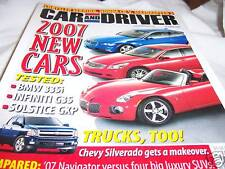 Car and Driver Magazine 10/2006 BMW 335i Infiniti G35