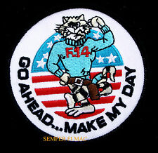 GO AHEAD...MAKE MY DAY HAT PATCH F-14 TOMCAT US NAVY PILOT CREW VETERAN  STRIKER