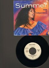"DONNA SUMMER State Of Independence 7"" SINGLE Love Is Just A Breath Away 1982"