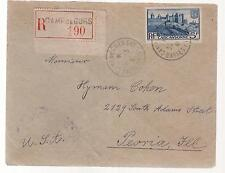1941 France Concentration Internment Camp de Gurs prisoner register Cover to USA