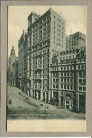 Postcard NY Standard Oil Building Broadway Bowling Green Street Scene c1907 471