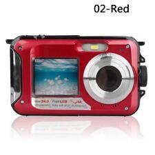 Waterproof Underwater Digital 24MP Dual Screen Point Video Recorder Camera 1080P