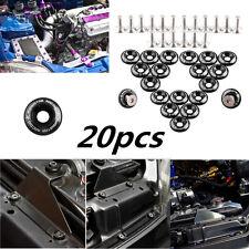 20pc Black JDM Billet Aluminum Fender/Bumper Washer/Bolt Engine Bay Dress Up Kit