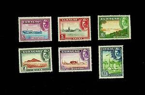 CURACAO 1942 VIEWS OF ISLAND SET OF 6v MNH STAMPS