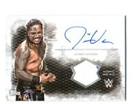 WWE Jimmy Uso 2015 Topps Undisputed Autograph EventUsed Shirt Relic Card White