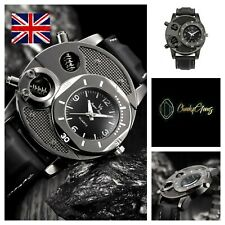 Mens V8 Watch Everyday Casual Sports Business Quartz Black Military Watches UK