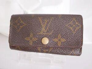LOUIS VUITTON M62631 Monogram Multicles 4 Hooks Key Case France Brown #4325P