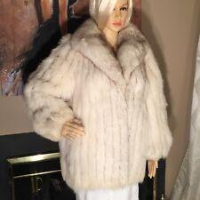 Beautiful Rosendorf Evans Stunning Blue FOX Fur Stroller Jacket Coat M / L 8-12