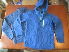 THE NORTHFACE HyVent 3-n-1 Ski Coat with Zip Out Puffer Royal Blue & Green M NOS