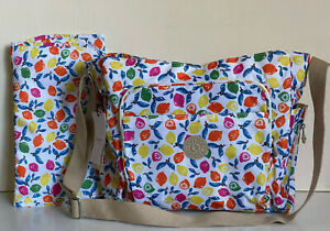 NEW! KIPLING KYLER CITRUS MASH BABY DIAPER CROSSBODY SLING BAG PURSE $149 SALE