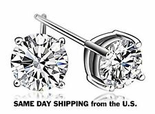 925 Sterling Silver  Made With Crystal Swarovski Element Stud Earrings AA
