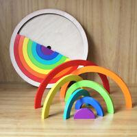 Holzbausteine Regenbogen Stapeln Motorikspielzeug  für Kinder ab 3 Jahren