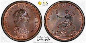 1806 Great Britain Penny SOHO Mint PCGS MS 65 BN