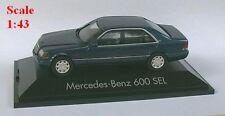 MB 600 SEL berline bleu métallisé - Herpa - Echelle 1/43