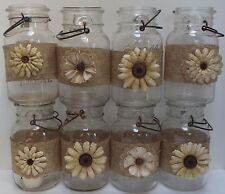 10 Burlap Gold Mason Jar Country Rustic Wedding 50th Anniversary Wraps S7
