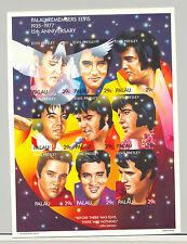 Palau #310, Elvis Presley, imperf chromalin proof 1v. m/s of 9