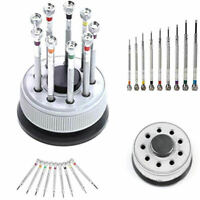 9 Pcs Precision Screwdriver Set Watch Flat Blade Slotted Watchmakers Tool CMF