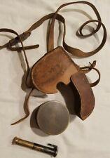 1900s Pocket Sextant Celestial Navigation Instrument StanleyLondon W/Leather Cas