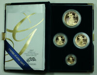 2007 American Eagle Gold Proof 4 Coin Set AGE in Box w/ COA
