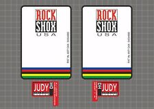Rock Shox JUDY DH UCI 1997 Forks Decals Stickers Graphic Set Vinyl Logo Adhesive