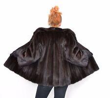 US180 stylish Women mink fur jacket coat куртка норка Mex Nerzjacke Nerz ~ L