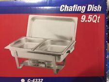 Stainless Steel, Rectangular Chafing Dish, Half Size, 9.5 Quart, C-32 (2 set)