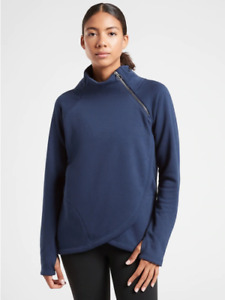 NWOT ATHLETA Cozy Karma Asym Pullover - XS - XSMALL - Enchanted Blue - $108