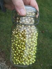 Atlas quart Mason's Jar & Lid filled with vintage Holiday glass bead garland