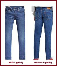 LEVIS 511 Slim Men's Blue Stone Washed Color Stretch Denim Rivet Jean 04511-4623