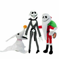 The Nightmare Before Christmas Santa Jack Skellington and Zero Plush Doll Toys