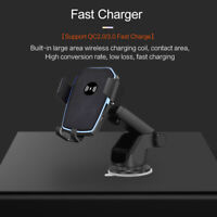10W Qi Wireless Car Charger Stand Bracket For Samsung S10 S9 S8 i Phone 11 X XS