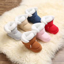 Baby Boys Girls Crib Shoes Child Winter Snow Warm Booties Toddler Faux Fur Boots