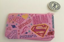 Mother's Day Mum Super Woman Pink DC Pencil Make Up Storage Zip Case Gift