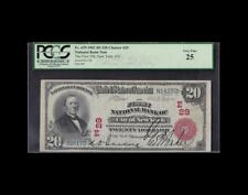 RARE 1902 $20 RED SEAL NATIONAL NEW YORK PCGS VERY FINE 25