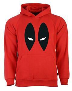 Deadpool Eyes Avengers Superhero Red Mens Hoodie