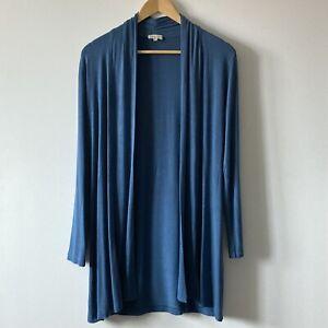 Kettlewell blue cardigan size M wrap medium 215 teal